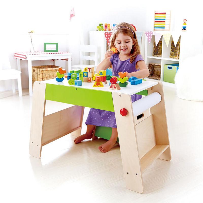 Kajoca Giochi - tavolo in legno Hape disegno attivita'