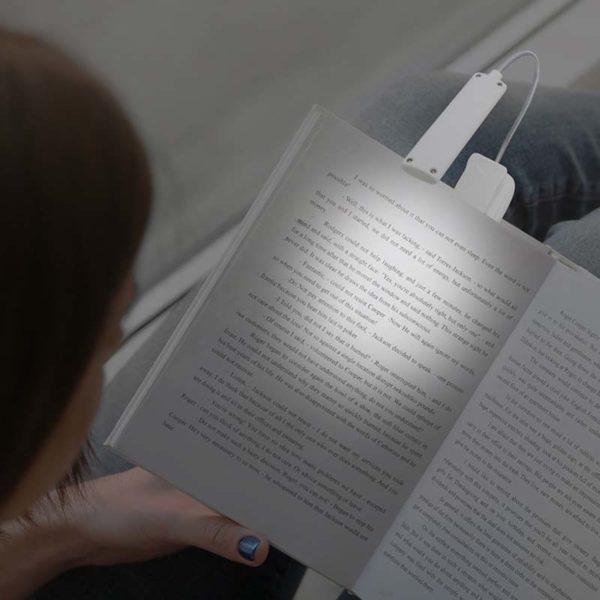 luce led da lettura con clip