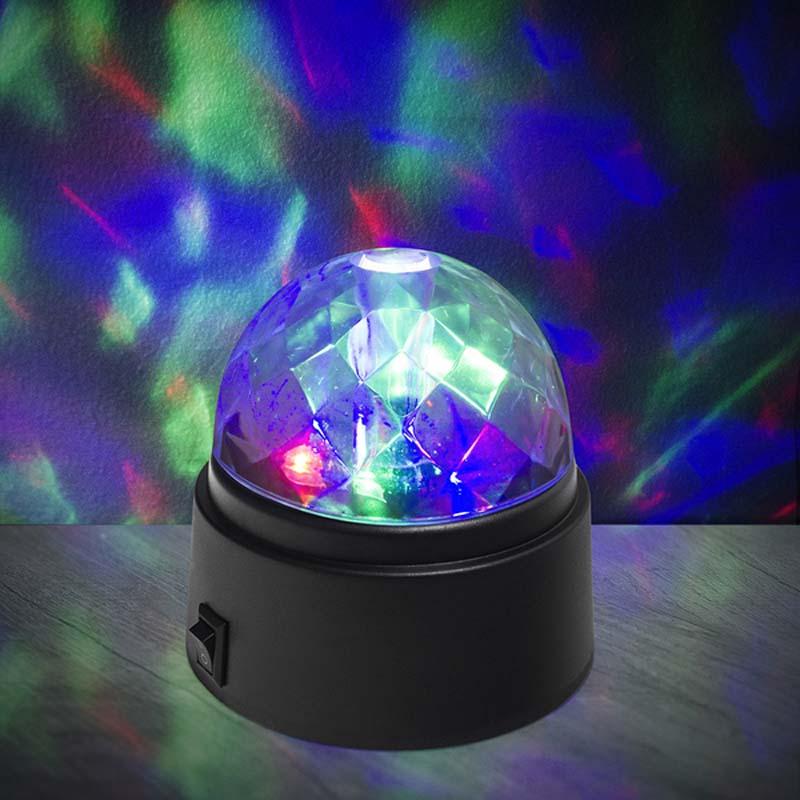 lampada luce discoteca a batteria